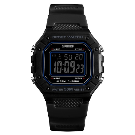SKMEI 1496 Outdoor Sport Digital Watch  Waterproof – Black