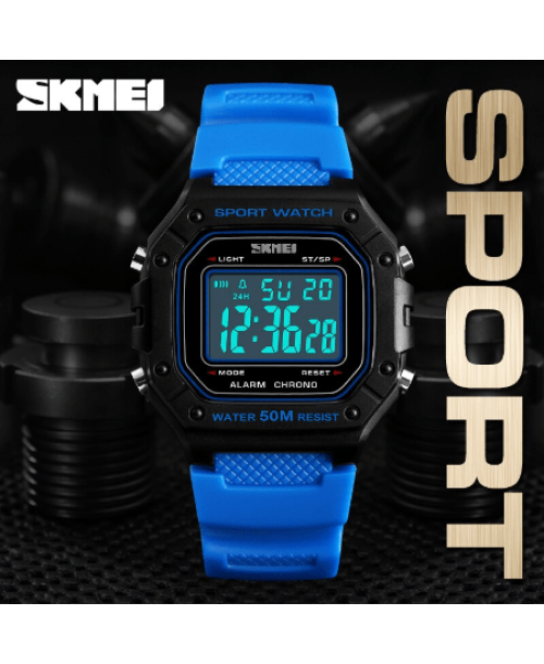 SKMEI 1496 Outdoor Sport Digital Watch  Waterproof – Blue