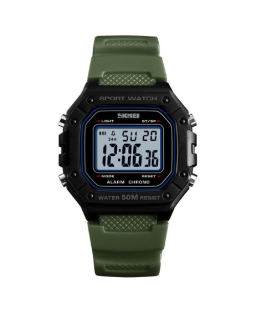 SKMEI 1496 Outdoor Sport Digital Watch  Waterproof – Green