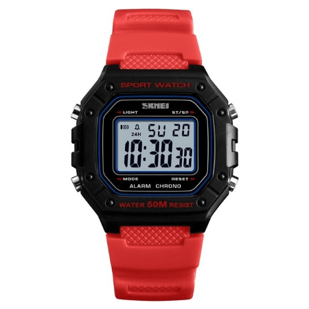 SKMEI 1496 Outdoor Sport Digital Watch  Waterproof – Red