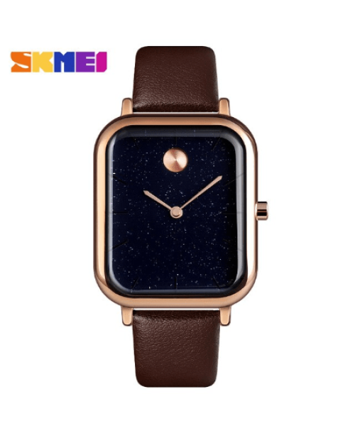 SKMEI  9187 Luxury  Women Quartz Watch Starry Sky Waterproof – Brown