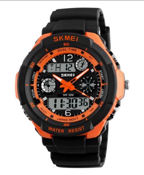 SKMEI 0931 Anti Shock 5Bar Waterproof Watches – Orange