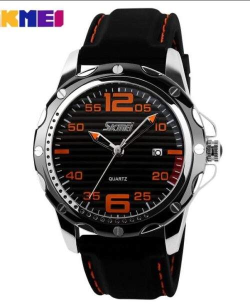 SKMEI 0992 Analog 5Bar Waterproof Watch – Black