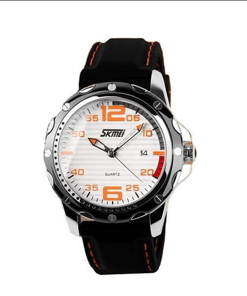 SKMEI 0992 Analog 5Bar Waterproof Watch – White