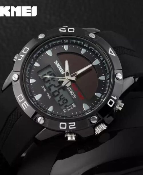 SKMEI 1064 Men Military LED Digital Watch  50M -Black