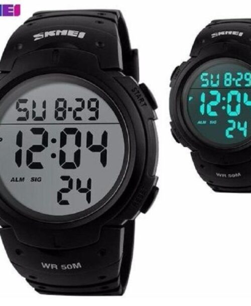 SKMEI 1068 Men Sports Digital Watch Black