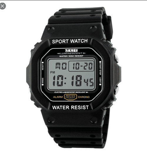 SKMEI 1134 Men  Military LED Digital Watch  50M – White