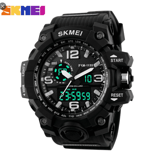 SKMEI 1155 Men Sports Digital Watch Black