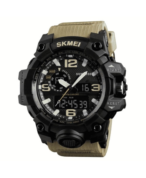 SKMEI 1155 Men Sports Digital Watch KHAKI