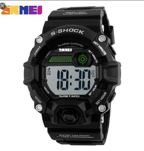 SKMEI 1162 Talking Digital Watch 50M – black