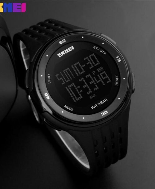 SKMEI 1219 Digital Sports Watch  50M – Black