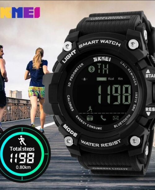 SKMEI 1227 Bluetooth Smart Digital Watch – Black