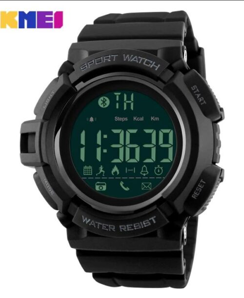 SKMEI 1245 Bluetooth Smart Digital Watch – Black