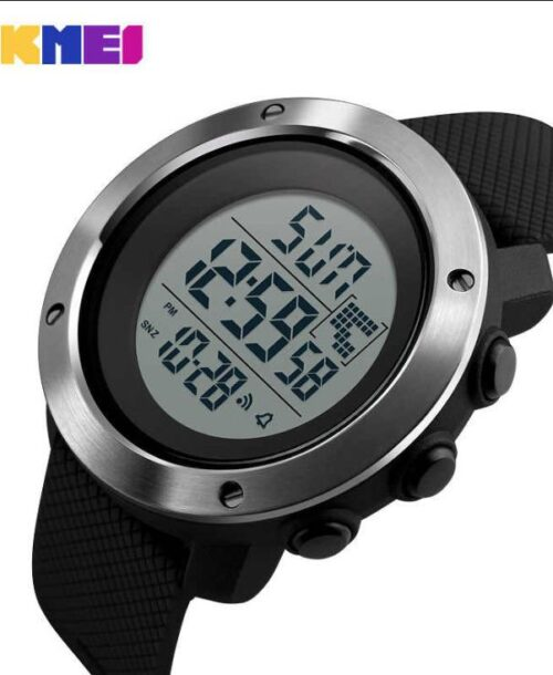 SKMEI 1167 Men  Military LED Digital Watch  50M – Black