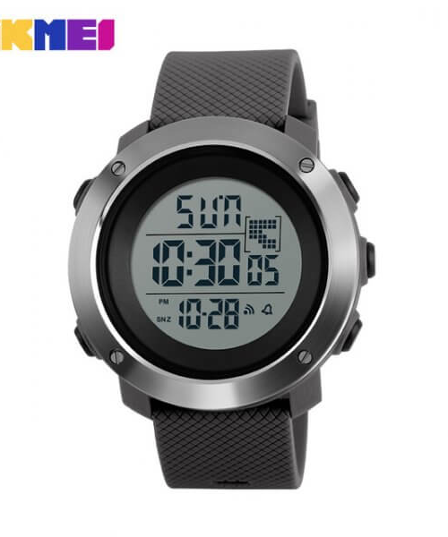 SKMEI 1167 Men  Military LED Digital Watch  50M – Grey