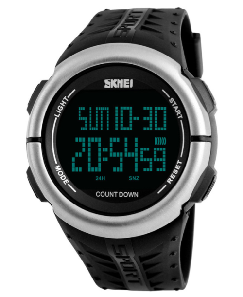 SKMEI 1286 Military Digital Watch – Black