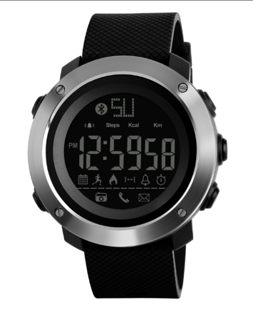 SKMEI 1287 Bluetooth Smart Digital Watch – Black