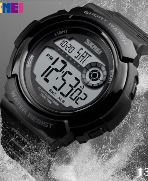 SKMEI 1367 Military Digital Watch – Black