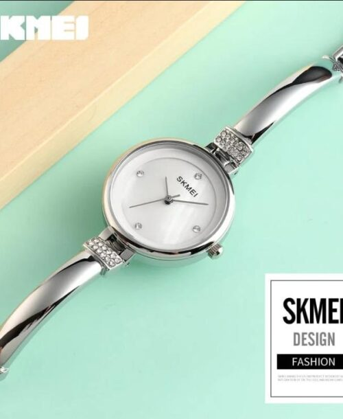SKMEI 1409 Analog 5Bar Waterproof Watch – Silver