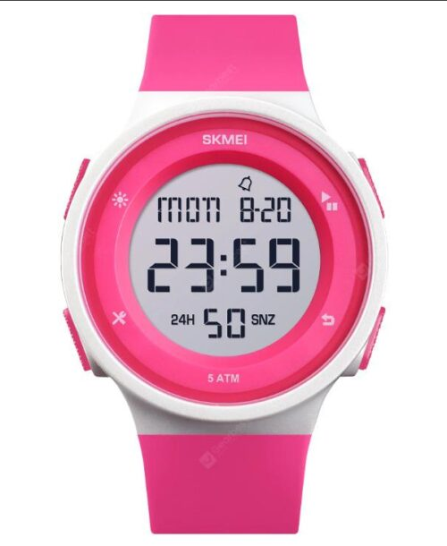 SKMEI 1445 Military Digital Watch – Rose Red