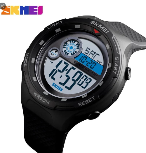 SKMEI 1465 Sports Digital Watch – Black