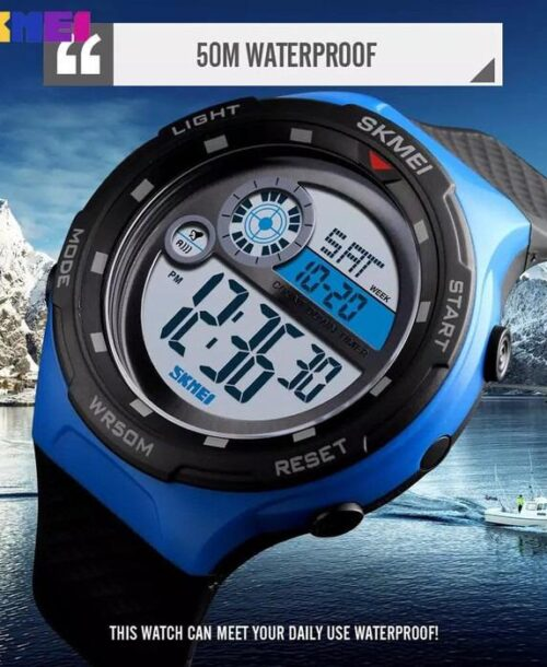 SKMEI 1465 Sports Digital Watch – Blue