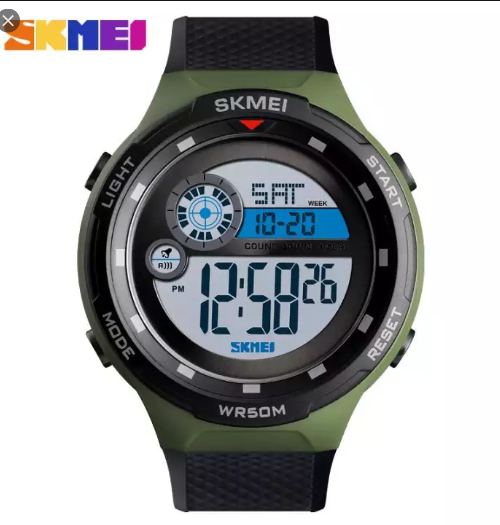SKMEI 1465 Sports Digital Watch – Green