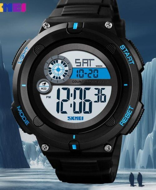 SKMEI 1481 Men Military LED Digital Watch  50M -Black