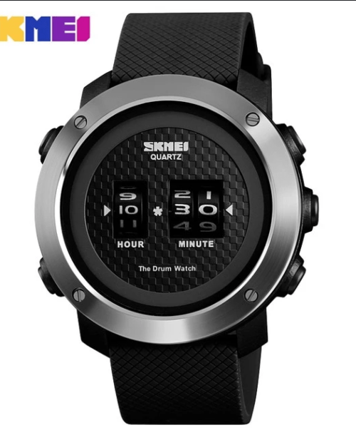 SKMEI 1486 Military Drum Watch – Black