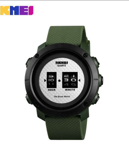 SKMEI 1486 Military Drum Watch – Green