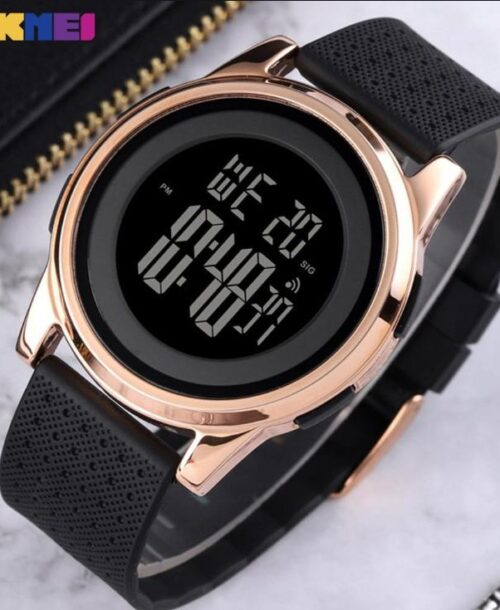 SKMEI 1502 Sports Digital Watch – Rose Gold