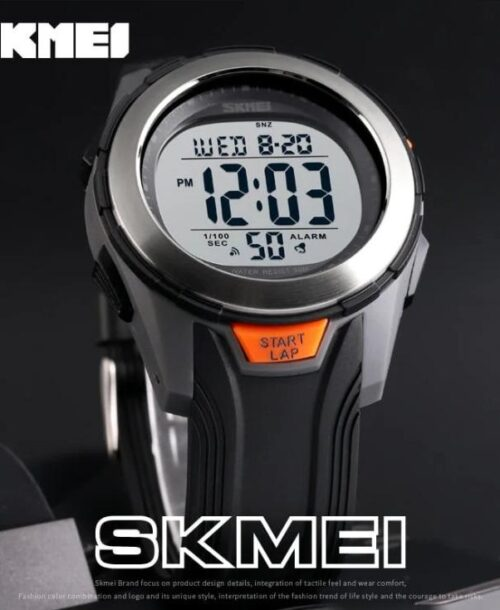 SKMEI 1503 Sports Digital Watch – Grey Silver