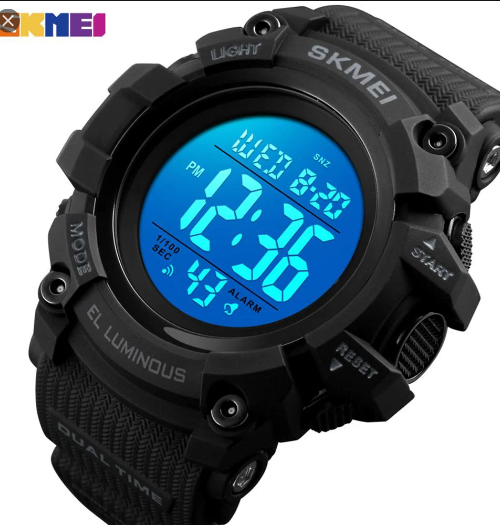 SKMEI 1522 Sports Digital Watch – Black