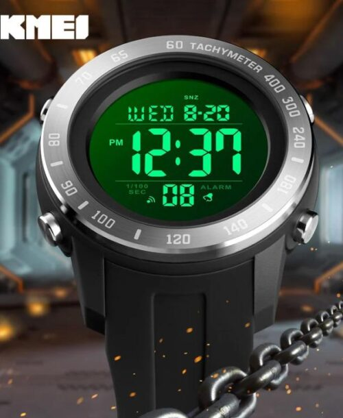 SKMEI 1524 Sports Digital Square Watch – Black B