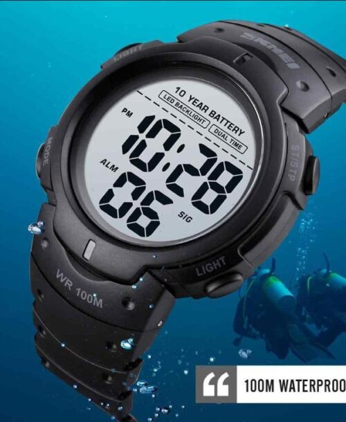 SKMEI 1560 Sports Digital Watch – Black