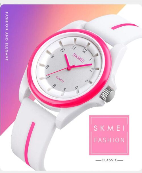 SKMEI 1578 Analog 5Bar Waterproof Watch – White