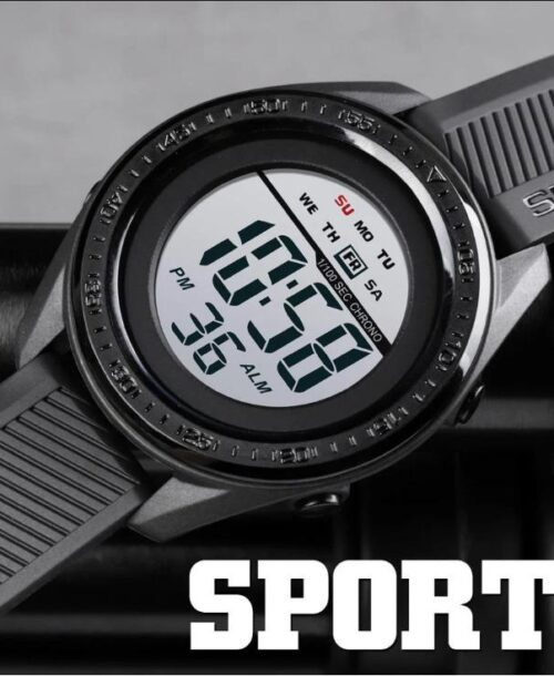 SKMEI 1638 Sports Digital  Watch – Black