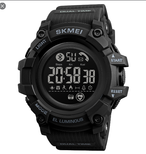 SKMEI 1643  Bluetooth Smart Digital Watch – Black