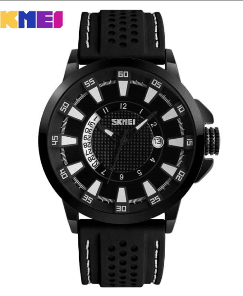 SKMEI 9152 Analog 5Bar Waterproof Watch – Black