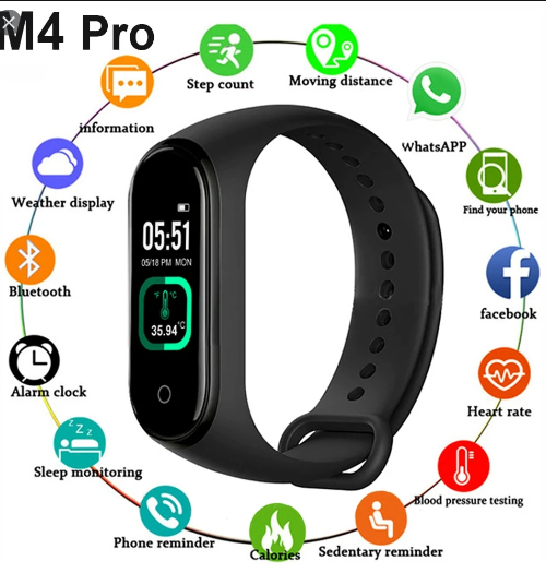 Smart Bracelet 4Pro Smart Watch – Black
